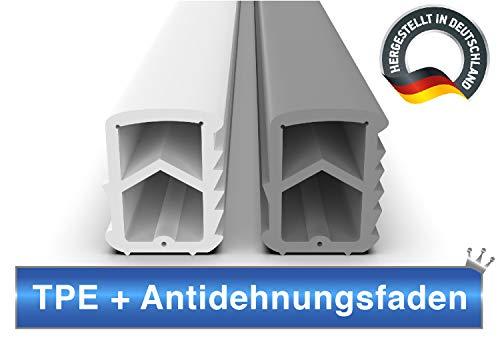 Stahlzargendichtung Grau 5m - gegen Zugluft Lärm & Staub spart Heizkosten Dichtung Dichtungshöhe 16mm Dichtungsbreite 12mm Falz Türdichtung (Grau 5m)