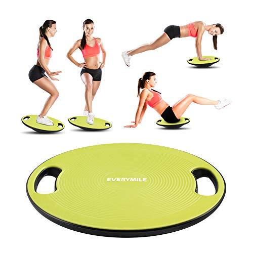 バランスボード ダイエット 体幹トレーニング用 EVERYMILE 滑り止め 直径40cm 運動不足 エクササイズ 持ち運びやすい