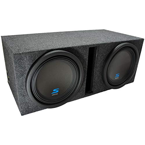 "Universal Car Stereo Vented Port Dual 12"" Alpine S-W12D2 Type S Car Audio Subwoofers Custom Sub Box Enclosure Package New"