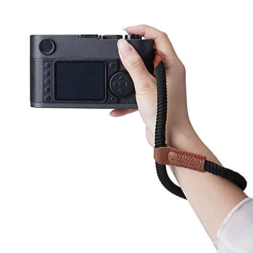 Camera Wrist Strap Adjustable DSLR CameraCotton Wrist Strap Bracelet Hand Grip Compatible for Nikon Canon Panasonic Sony Quick Release Camera Hand Strap £¨Black