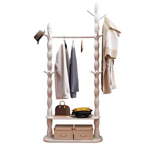 N/Z Home Equipment Wardrobe Storage/Wardrobe Wooden Hanger Portable Oversized Clothing Rack Hanger Double Layer White Portable Closet