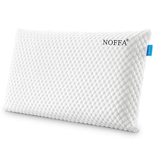 NOFFA Memory Foam Pillow, ergonomisch nekkussen om te slapen, langzaam terugkomend kussen voor zij- en rugslaper…
