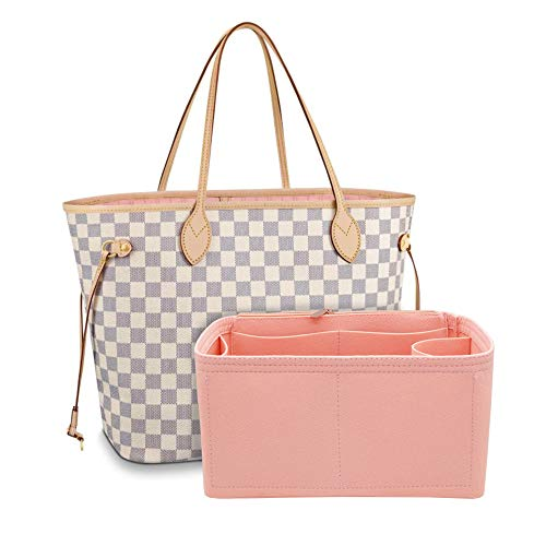 Cosmetic Organizer Travel Cosmetic Bag Sundries Sorting, Suitable For Neverfull GM MM Speedy 25 30 Marmont 22 26 (GM 40, Pink)