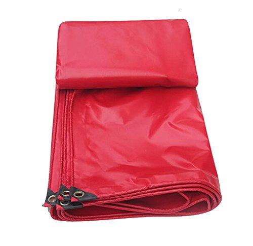 ZZYE Lona Tarpa Impermeable Tapa de la Techo de la Techo de la Techo  Tienda de campaña para Acampar y al Aire Libre a Prueba de Agua TARP 450G / m² Espesor 0.3mm (Rojo) Lona Impermeable