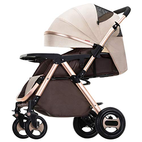 Why Should You Buy JAD@ High Landscape Baby Stroller Can Sit Reclining Lightweight Folding Four Whee...