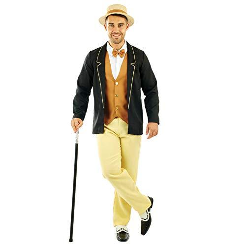Fun Shack Amarillo Caballero De Los Años 20 Disfraz para Hombres - XL