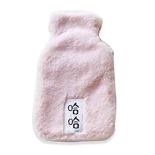 Wassergefüllte Süße Wärmflasche, Warmer Schlafsack Für Comic-Persönlichkeiten, Mini Mini Warm Und Im Winter HerausnehmbarRosa Text 300 ML