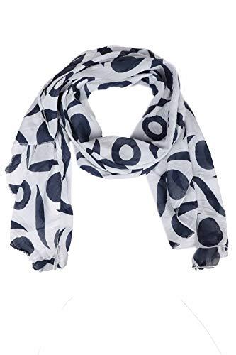 Zwillingsherz Seiden-Tuch Damen mit schlichtem Muster - Made in Italy - Eleganter Sommer-schal für Frauen - Hochwertiges Seidentuch/Seidenschal - Halstuch und Chiffon-Stola Dezent Stilvoll