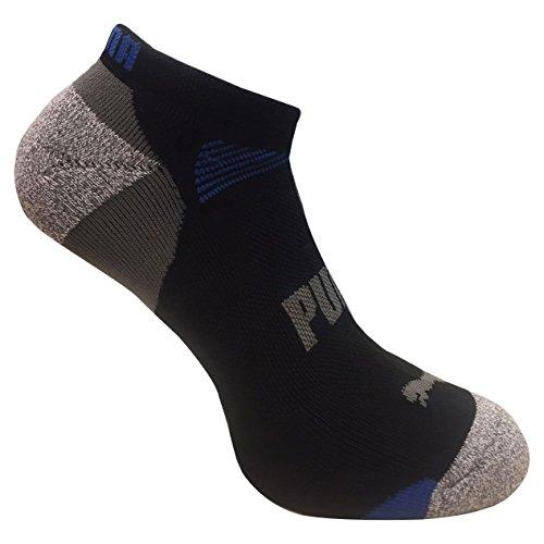 Puma Mens Low Cut All Sport No Show Socks 6-Pair, Black/Gray, 10-13