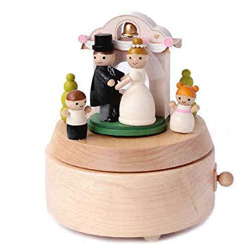Wooderful Life - Carillon In Legno Artigianale Sposi Con Doppia Rotazione