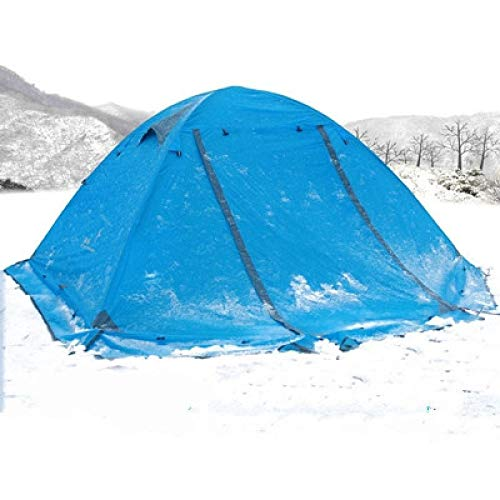 Outdoor Tent Winter Tent With Snow Skirt 2-3 Persons Aluminum Pole Double Layer 2 Doors Windproof Big Rain Proof Camping 3Persons B