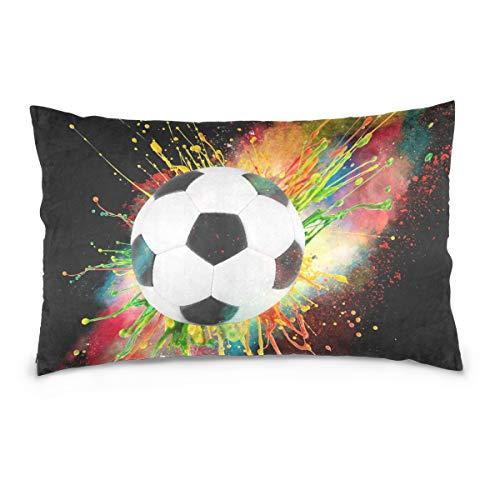 Linomo Kissenbezug 40x60 cm, Galaxis Fußball Dekorative Kissenbezug Kissenhülle für Couch Sofa Bett Hause