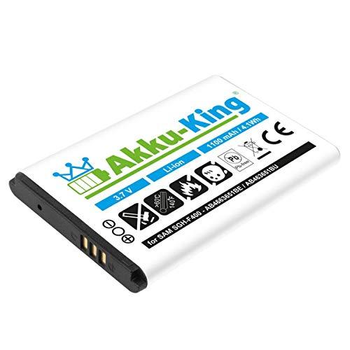 Akku kompatibel mit Samsung SGH-F400 J800 L700 M7600 P260 S7220 ZV60 - ersetzt AB463651BE Li-Ion