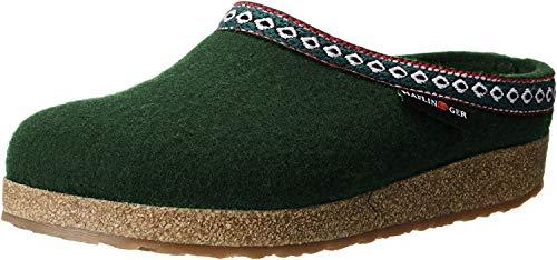 Haflinger GZ Pantofole classiche da donna con apertura sul retro, Verde (Eibe.), 40 EU