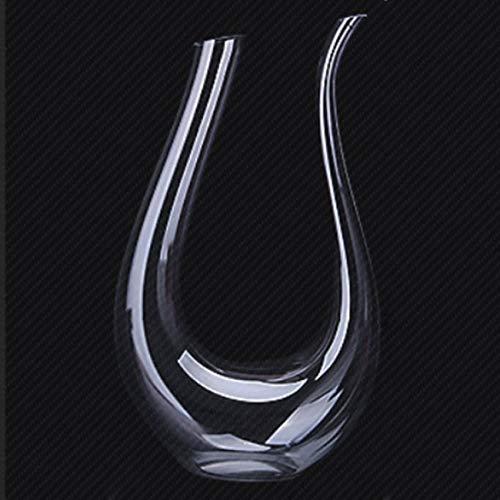 Ashley GAO Contenitore per versatore di vino rosso con decanter per vino in corno a forma di U in cristallo trasparente