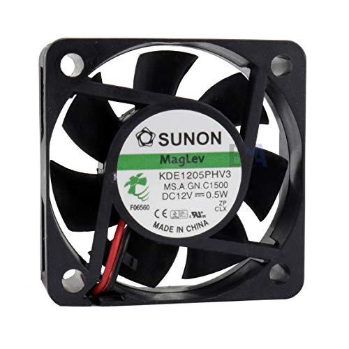 SUNON Ventola 50mm 50x50x15 KDE1205PHV3 12V DC Air Fan 0,5W 5cm 2 Fili (+/-) Raffreddamento 50 mm x 15 mm