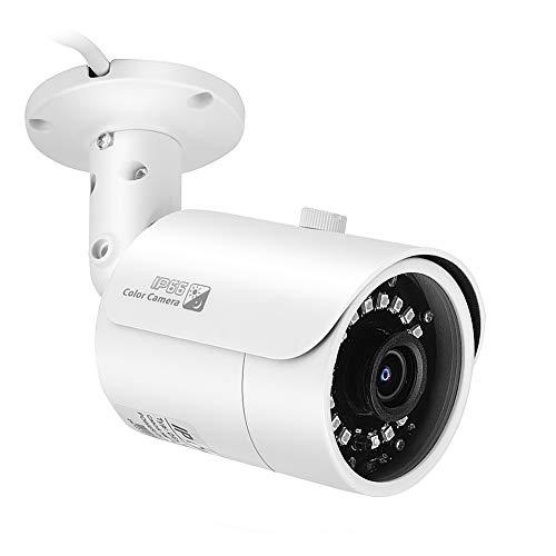 Cámara de seguridad de 2.0MP para exteriores 1080P IP66 Cámara de red IP impermeable Alarma de detección de movimiento con visión nocturna por infrarrojos, para bancos/gobiernos/escuelas/hoteles