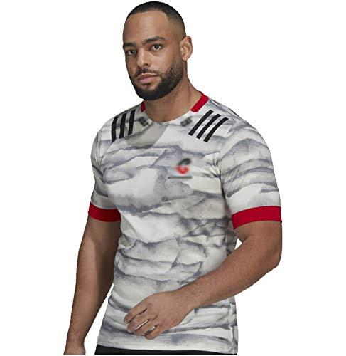 HGTRF Camiseta de Rugby, Camiseta de Rugby visitante de los New Zealand Crusaders 2021, Media Manga para Hombre (S-5XL)(Away Game,4XL)