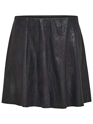 Only Onlbest Neolin Faux Suede Skirt Otw Noos Falda, Negro (Black Black), 40 (Talla del Fabricante: Medium) para Mujer