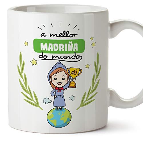 MUGFFINS Taza Madrina -Familiares Mundo - - (en gallego)