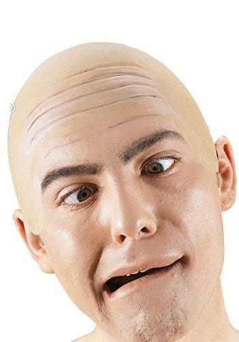 Faux crane chauve perruque Deguisement - Latex - Couleur Peau - 5175