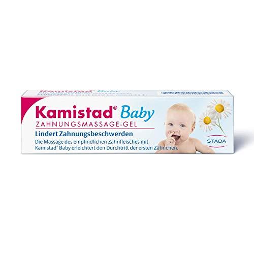 Kamistad Baby Zahnungsmassage-Gel - lindert Zahnungsbeschwerden von Babys beim Durchtritt der ersten Zähnchen - beruhigt gereiztes Zahnfleisch - 1 x 10 ml