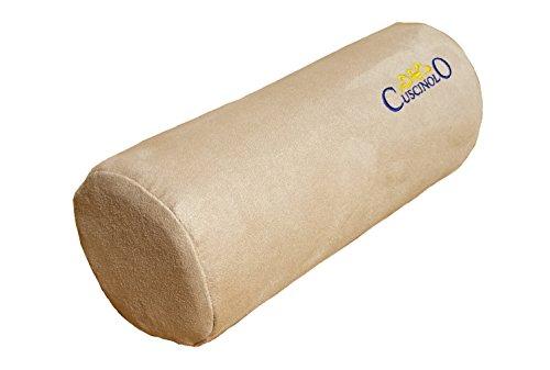 Cuscinolo rullo cervicale, cuscino per il collo, cuscino di sostegno per gli arti, cuscino poggia testa. (beige)