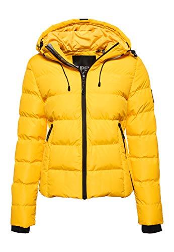Superdry Spirit Puffer Icon Jacket Chaqueta, Amarillo (Bright Yellow F01), 38 (Talla del Fabricante: Small) para Mujer
