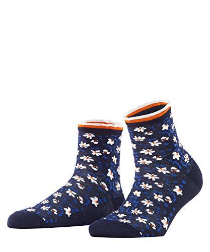 ESPRIT Damen Romantic Flower W SO Hausschuh-Socken, Blau (Marine 6120), 35-38 (UK 2.5-5 Ι US 5-7.5) (2er Pack)