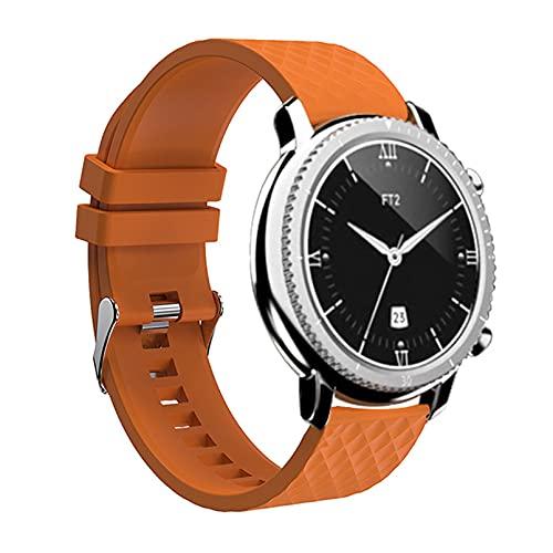 QFSLR Smartwatch, Reloj Inteligente con Monitor De Frecuencia Cardíaca Monitor De Presión Arterial Monitoreo De Oxígeno En Sangre Reloj Deportivo Podómetro,Naranja