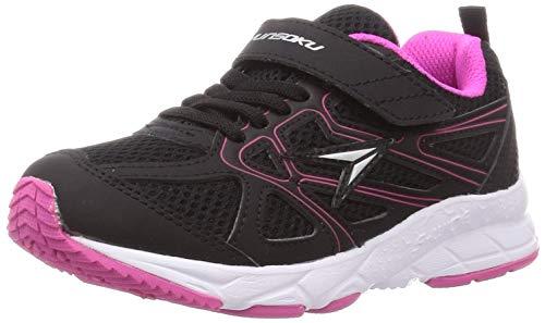 [シュンソク] スニーカー 運動靴 幅広 軽量 19~23cm 3E キッズ 女の子 LEJ 6614 ブラック 22 cm