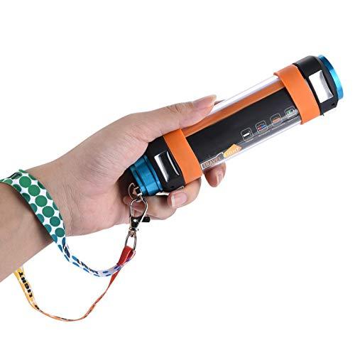 Linterna LED, Linterna LED Linterna LED Recargable, Linterna de Camping Multifuncional Linterna LED Lámpara de Luz Cargador de Teléfono de Emergencia para Acampar Senderismo Pesca Nocturna(5200mA)