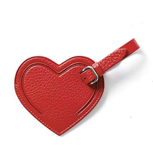 Leatherology Scarlet Small Heart Luggage Tag