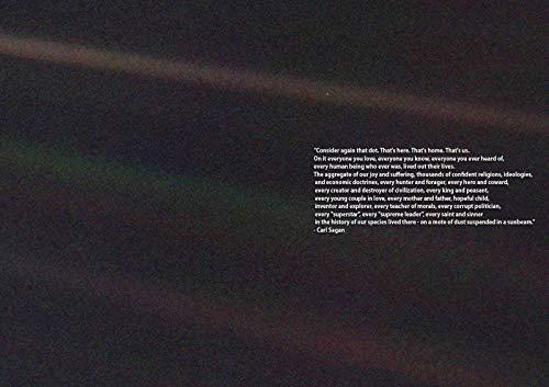 63307 Carl Sagan: Pale Blue Dot Quote Space Decor Wall 36x24 Poster Print
