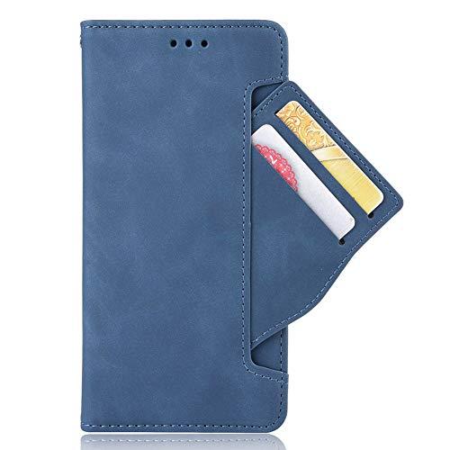 HAOYE Hülle für Oppo Reno 4 Pro 5G (Oppo Reno4 Pro 5G) Handyhülle Flip Hülle Brieftasche Schutzhülle, Premium Leder mit Ständer Funktion und Kartenfach und Magnetic Snap Cover, Blau
