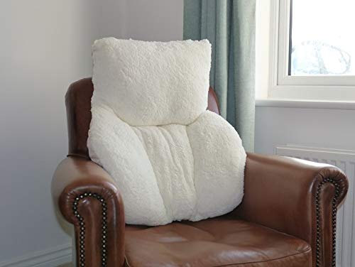 Richard Inglis Faux Sheepskin Fleece Chair or Bed Back Support Cushion Pillow