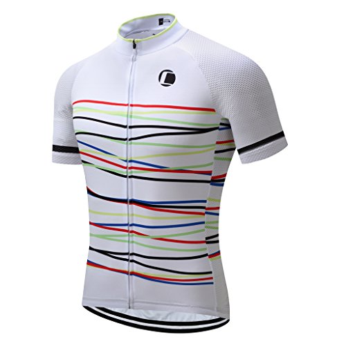 Coconut Ropamo Summer Men Cycling Jersey Road Bike Shirt Short Sleeve Breathable 100% Polyester (L,2032)