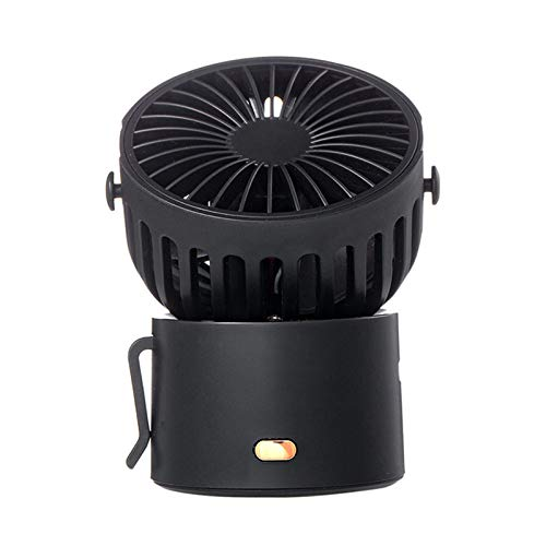 Mini ventilateur portable à 3 vitesses - Petit courant - Multicolore - En option - Avec cordon de suspension - Type C - USB - Pivotant à 45 degrés - Pour la plage