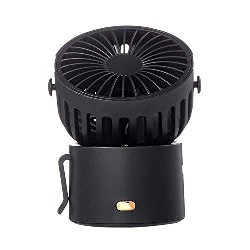 Youjin Ventilador de mano, mini ventilador, recargable por USB, 3 velocidades ajustables, ventilador giratorio de 45 grados para actividades de interior y exterior