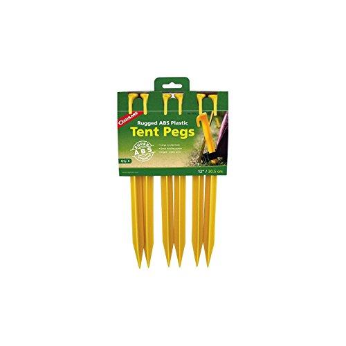 Coghlans Piquets de Tente ABS, 9312, Jaune, 30,48 cm
