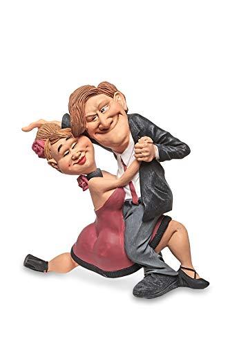 Les Alpes Orig. Sammlerfigur Tanzpaar, 17,5cm - liebevoll handbemalt auf Kunstharz, viele Details - Figur Statue Kollektion Funny World Berufe Freizeit