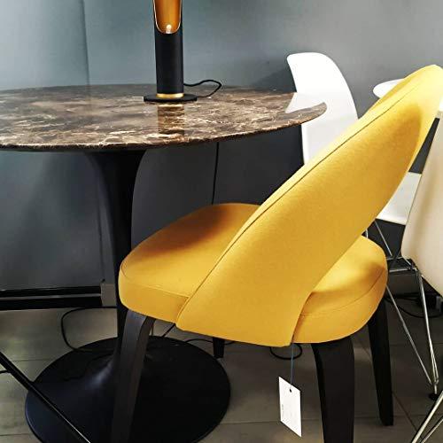 Table Tulip Ronde cm 160 marbre Emperador Dark Base Noire