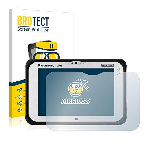 BROTECT Panzerglas Schutzfolie kompatibel mit Panasonic Toughpad FZ-M1 - AirGlass, extrem Kratzfest, Anti-Fingerprint, Ultra-transparent