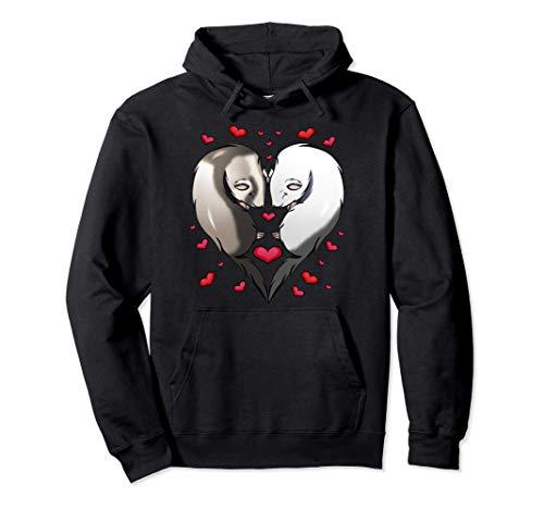 Adorable Pareja Hurones Regalo Corazón Amantes Animales Sud