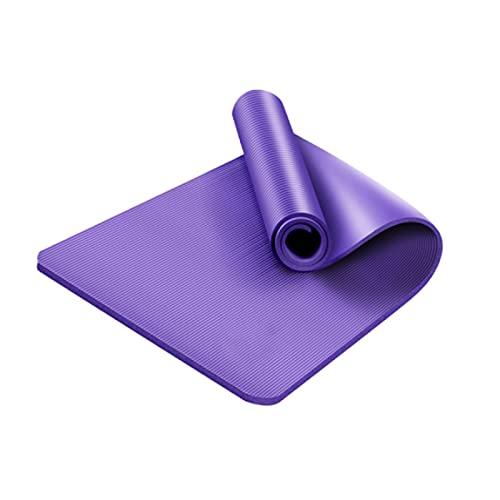 ZZRTEC Esterilla Deporte Antideslizante,TPE Esterilla de Yoga y Alfombra Fitness, Adecuada para aeróbic Yoga Pilates y Gimnasia(183 × 61 × 1,0 cm) Purple