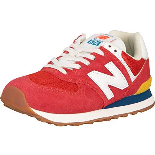 New Balance NB 574 Zapatillas, color Rojo, talla 42 EU