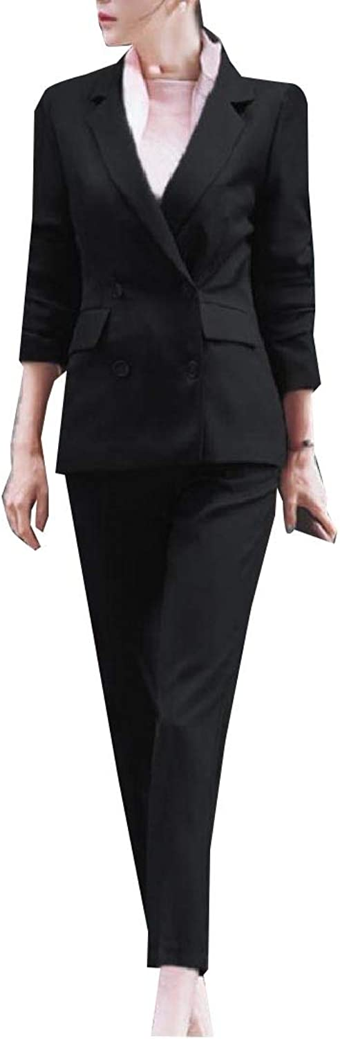 Winme Women's Work Wear Pure color Office Slim Elegant Business Suit