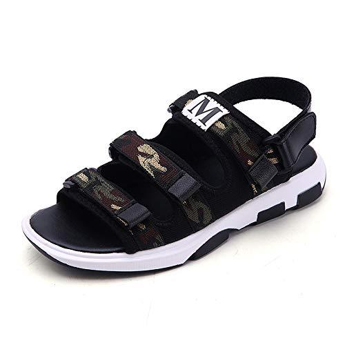 Verano Hombres Negro Sandalias De Tamaño 9 Zapatos Casuales De Playa Deportes Al Aire Libre