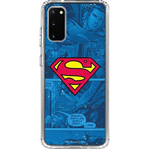 Skinit Clear Phone Case Compatible with Galaxy S20 - Officially Licensed Warner Bros Superman Logo Design