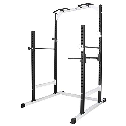 RIP X Heavy Duty Half Power Cage Weight Lifting Squat Rack & Dip Station Tower